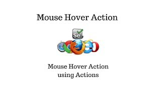How to Perform Mouse Hover in Selenium Webdriver