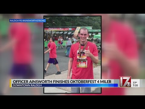VIDEO: Raleigh officer shot months ago finishes 4-mile race