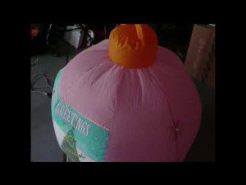 Airblown Cinderella Christmas Ball Ornament in Garage