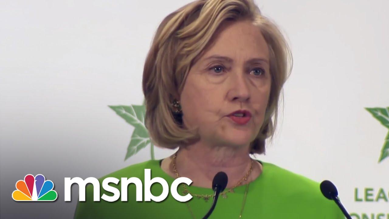 Clinton Avoids Climate Change Specifics   msnbc thumbnail