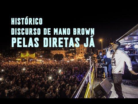 Mano Brown discursa pelas Diretas Já em São Paulo