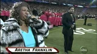 Superbowl 40 - Anthem- Aaron Neville- Aretha Franklin
