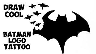 How To Draw Batman Logo Tattoo Design