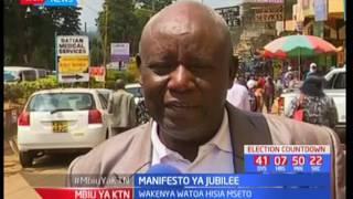 Wapo wanaounga na wanaopinga manifesto ya Jubilee