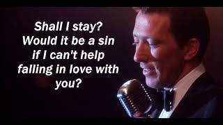 Can't Help Falling in Love  ANDY WILLIAMS (with lyrics)