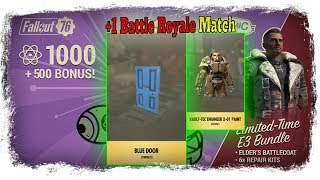 💰Fallout 76 Atom Shop Today💰 Blue Door With 20% Disc And One BR Match!