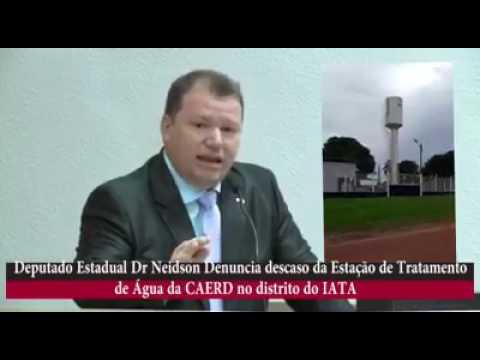 VÍDEO:DR. NEIDSON DENUNCIA DESCASO DA ESTAÇÃO DE TRATAMENTO DE ÁGUA DA CAERD NO DISTRITO DO IATA