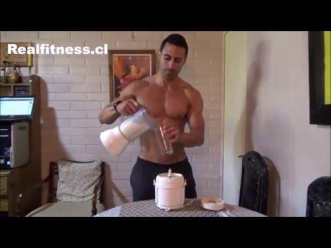 Batido de proteínas casero para la masa muscular