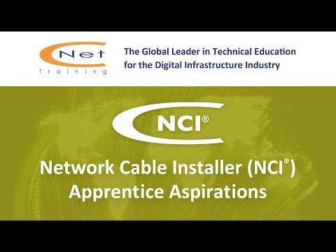 Network Cable Installer (NCI) Apprentice Aspirations - YouTube