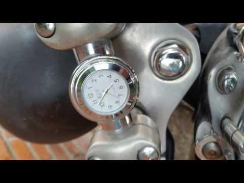 Reloj para manillar de motocicleta
