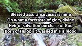 Blessed Assurance sung by Randy Travis with Lyrics