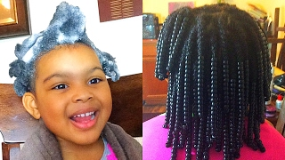 Natural Hair| Wash Day For 4c Hair Kid Protective Styles