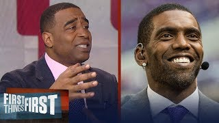 Cris Carter's message to Snacks Harrison: Randy Moss is the 'most talented WR' | FIRST THINGS FIRST