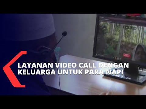 pandemi covid- rutan fasilitasi layanan video call dengan keluarga untuk narapidana
