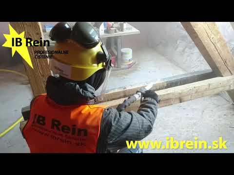 Renovácia, čistenie dreva a drevených povrchov systémom čistenie suchým ľadom