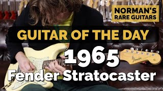 Guitar Of The Day: 1965 Fender Stratocaster Olympic White | Normans Rare Guitars