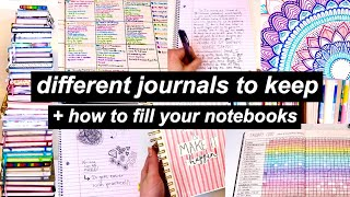 Different Journals To Keep + How To Fill Your Notebooks