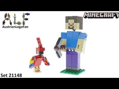 Vidéo LEGO Minecraft 21148 : Bigfigurine Minecraft Steve et son perroquet