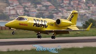 ADAC Ambulance - Learjet 60XR D-CURE - Landing at Split Airport LDSP/SPU