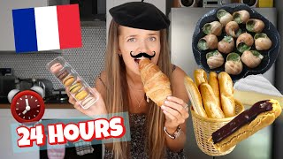 I ATE ONLY FRENCH FOOD FOR 24 HOURS! 🤢