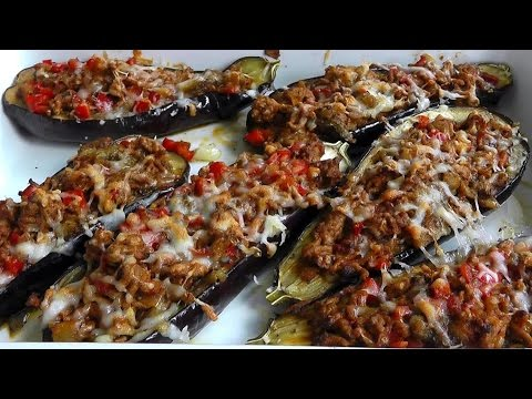 Video Lamb Mince stuffed Aubergines How to cook video recipe