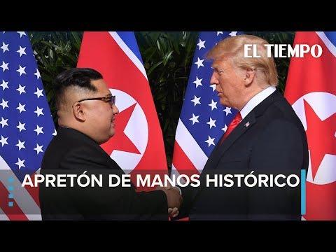Comienza la reunión entre Donald Trump y Kim Jong un en Singapur |EL TIEMPO
