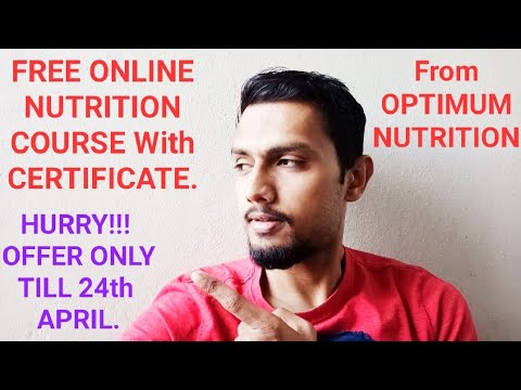 FREE NUTRITION COURSE ONLINE ( INCLUDES CERTIFICATION ...