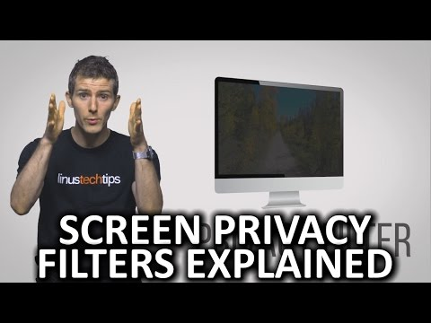 How Computer Screen Privacy Filters Work