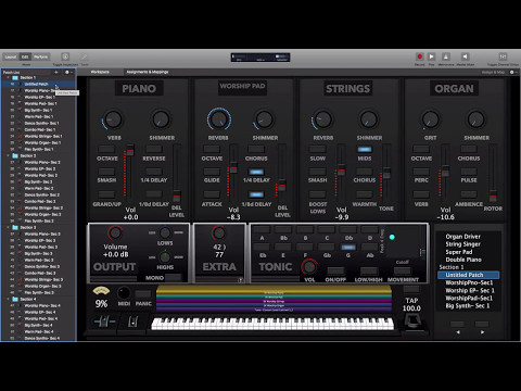 New Sunday Keys MainStage Template- Worship Patches for