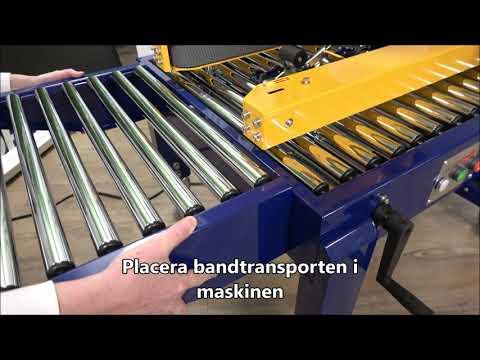 CT 103 SD: Montering av bandtransportör