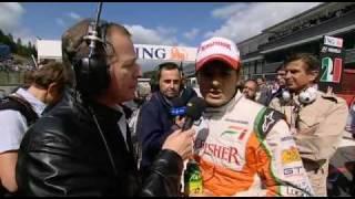 Fisichella qoute b4 race spa belgium 2009