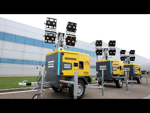LED Portable Light Towers the 5 reasons to choose HiLight H5+ for industries of building Atlas Copco - zdjęcie