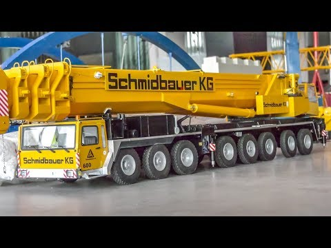 INCREDIBLE RC Cranes and heavy load Trucks work hard!