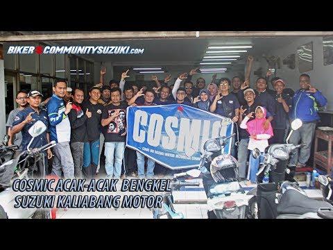 Cosmic 'Acak-Acak' Bengkel Suzuki Kaliabang Motor