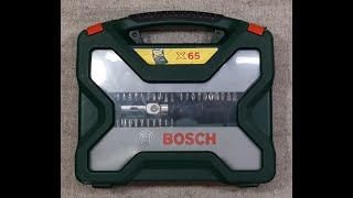 Набор Bosch Titanium X Line 65 пр в чемодане 2607019328