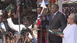 Raila meets Uhuru after Swearing In ceremony FULL   Kholo.pk