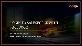 Login to Salesforce with Facebook