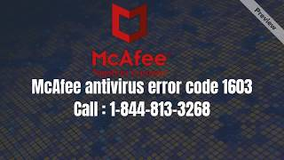 How to solve McAfee Antivirus Error 12152? || McAfee manager download Error 7305   :  1-844-813-3268