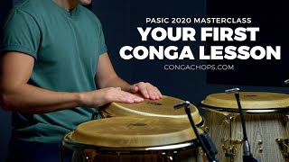 How to Play Congas for Beginners   Your Very First Conga Lesson   CongaChops.com PASic Masterclass