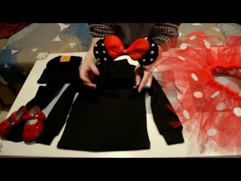 DIY: Disfraz Minnie Mouse / Tutorial Tutu sin coser  / Carnaval Halloween / Bebe Niña