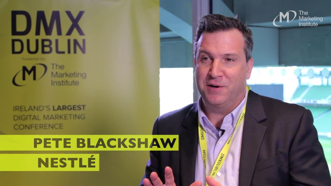 Pete Blackshaw, Nestle - Interview @ DMX Dublin 2016
