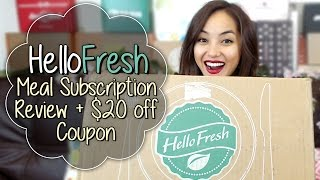 Our First HelloFresh Meal Subscription Review - Nov 2014 + $20 off Coupon