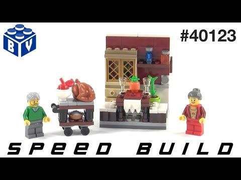 Vidéo LEGO Saisonnier 40123 : Le repas de Thanksgiving