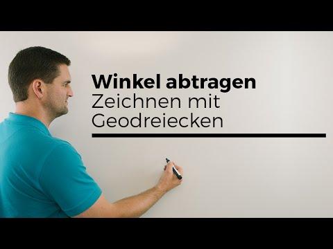 Winkel abtragen, Zeichnen mit Geodreieck, Nachhilfe online | Mathe by Daniel Jung