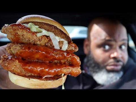 McDonald's Spicy Triple Decker Chicken Sandwich