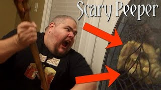 THE SCARY PEEPER PRANK!! (PART 2)