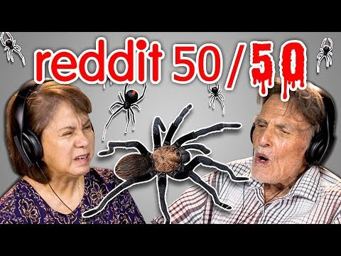 ELDERS REACT TO REDDIT 50/50 CHALLENGE (Spider Nightmare And Eye Surgery!)