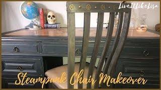 TEEN BOY BEDROOM SERIES | Steampunk Chair Makeover