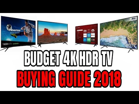 Best 4K HDR Budget TV Buying guide in 2018