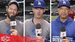Los Angeles Dodgers' Clayton Kershaw, Cody Bellinger, Dave Roberts on World Series | SportsCenter